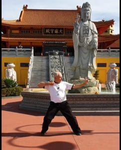 Photo of Qigong at a Chinese Temple