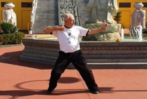 Teacher demonstrating Qigong